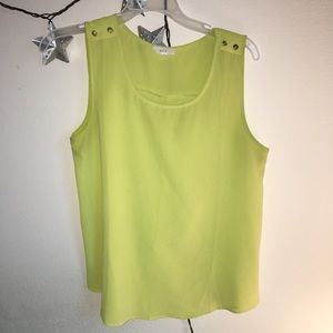 Yellow Tank with Gold Button Detail